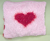 Valentine Pillow from UnwindYarn.com