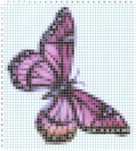Butterfly grid pattern