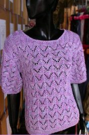 Lace Pullover Sweater from Knitting on the Net.com