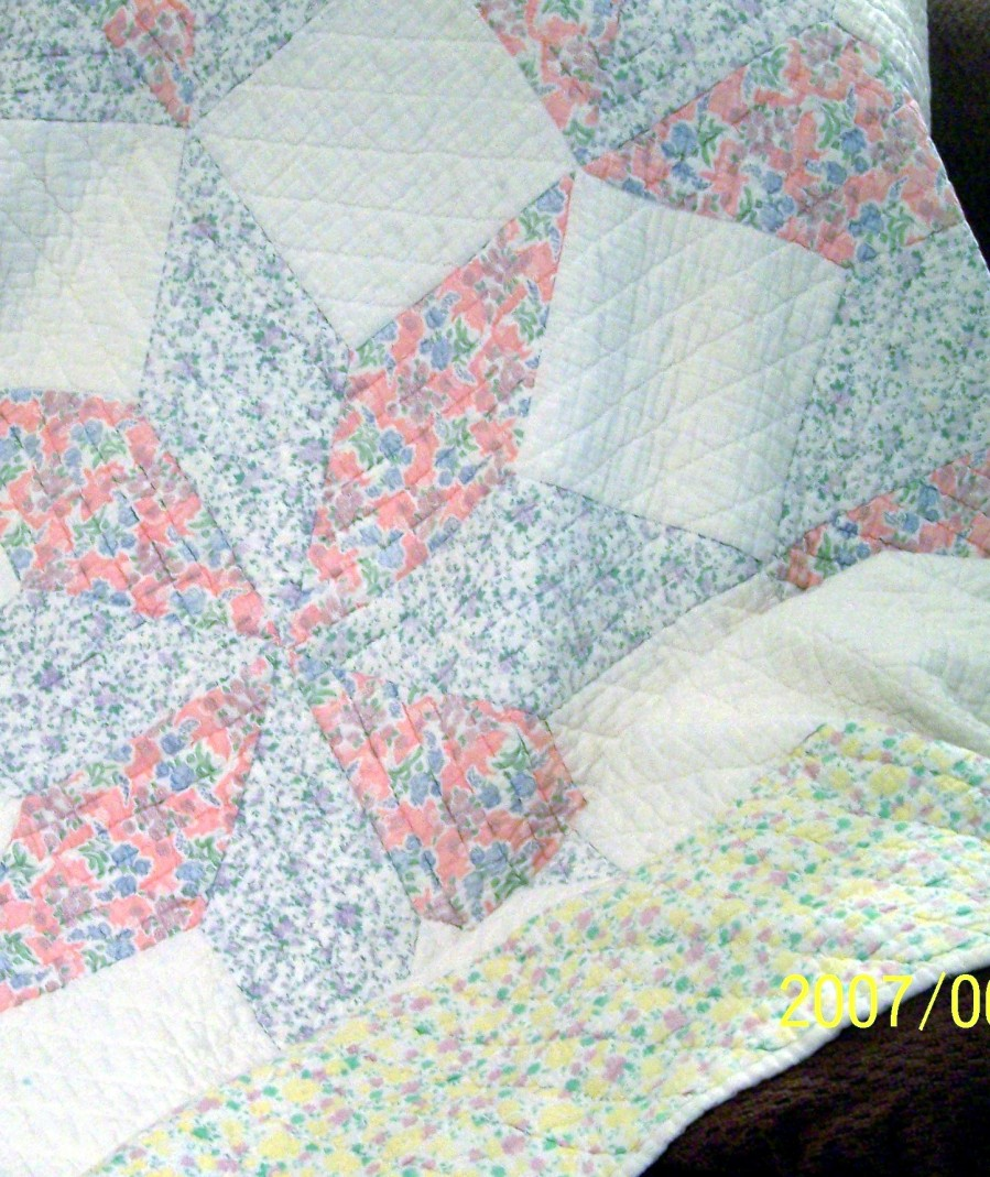Grandma S. quilt… now 3rd generation.