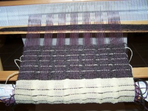 weaving pillow top