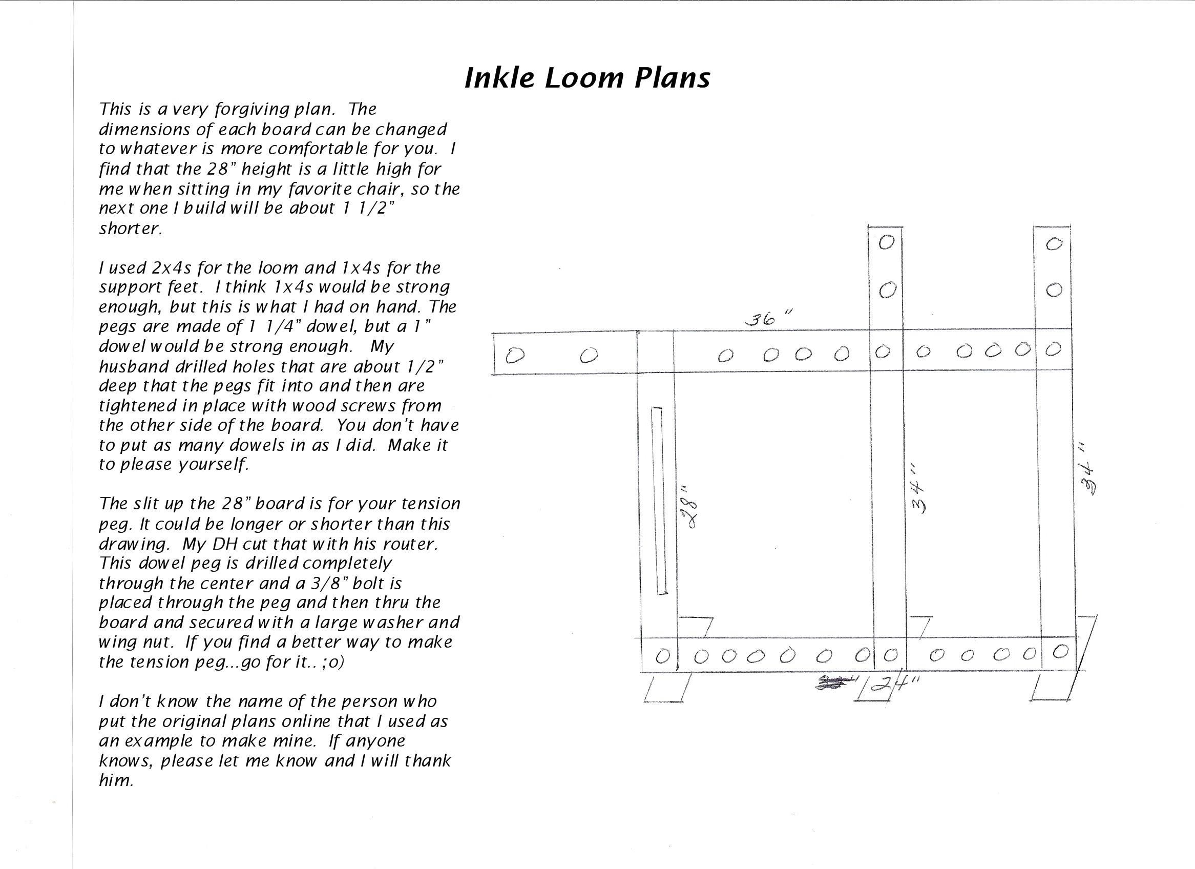 Free Inkle Loom Plans | Fabric Follies Two