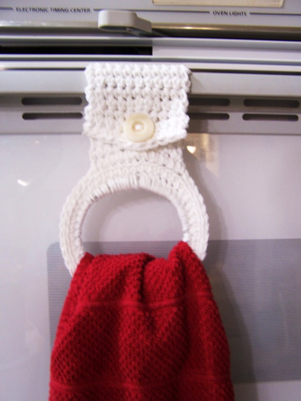 Crochet Your Own Kitchen Towel Holder
