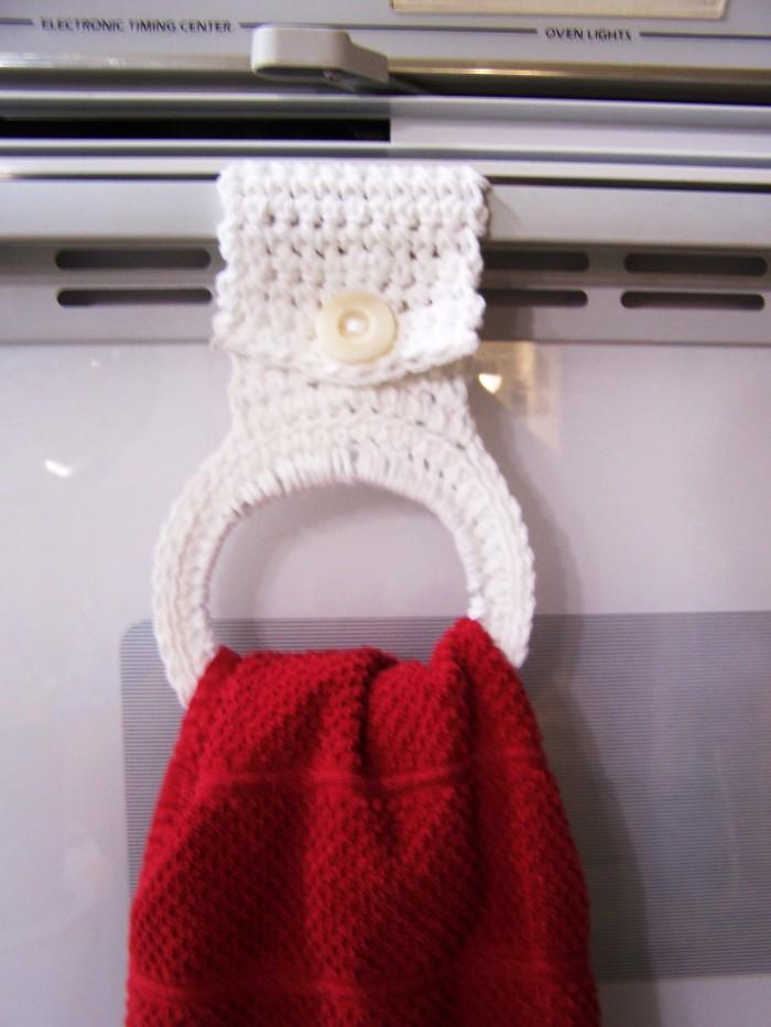 Crochet Your Own Kitchen Towel Holder